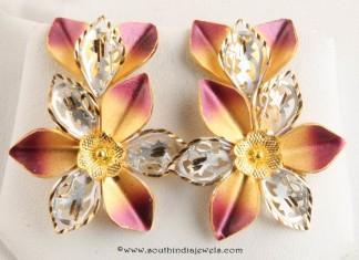 Gold Designer Stud From Senthil Murugan Jewellers