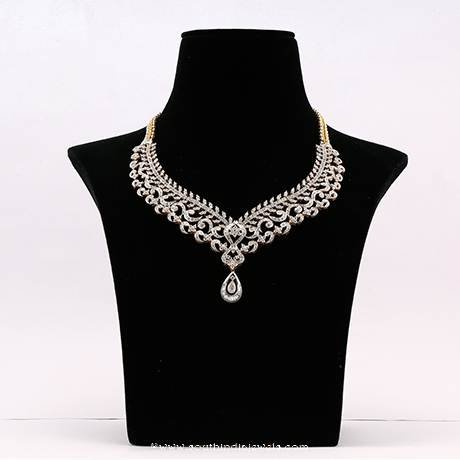 Gold Diamond Necklace From Manepally Jewellers