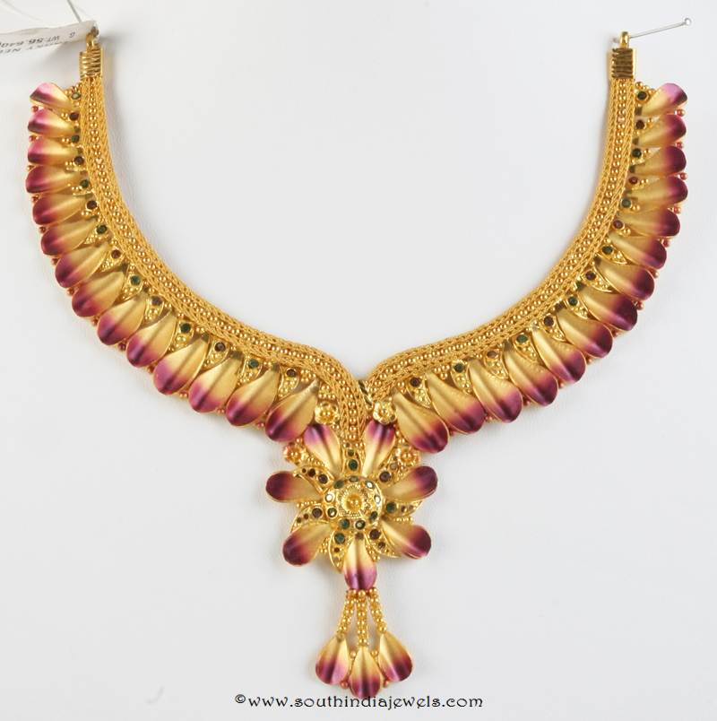 Gold Fancy Necklace from Senthil Murugan Jewellers