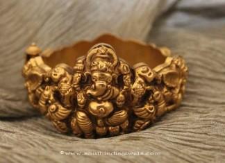 Gold Ganesh Bangle from Sayar Jewellery
