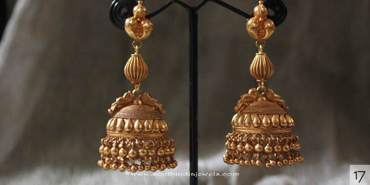 Gold Jhumka Design from Sayar Jewellery