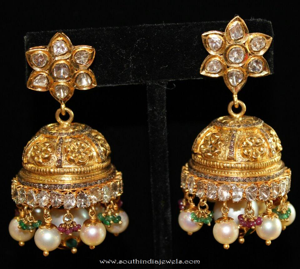 Gold Jhumka From Vijay Jewellers