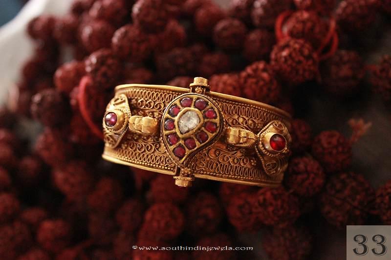 Gold Kemp Bangle Design from Sayar Jewellery