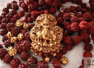 Gold Krishna Pendant from Sayar Jewellery