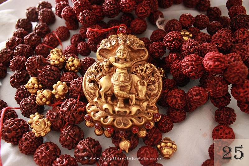 Gold Krishna Pendant from Sayar Jewellery