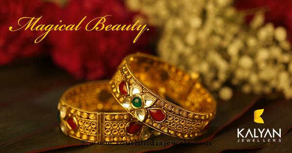 Gold  Kundan Bangle From Kalyan