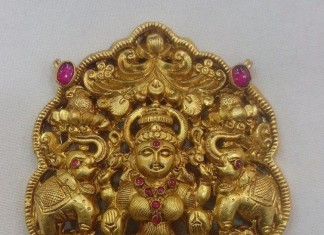 Gold Lakshmi Pendant From Vijay Jewellers