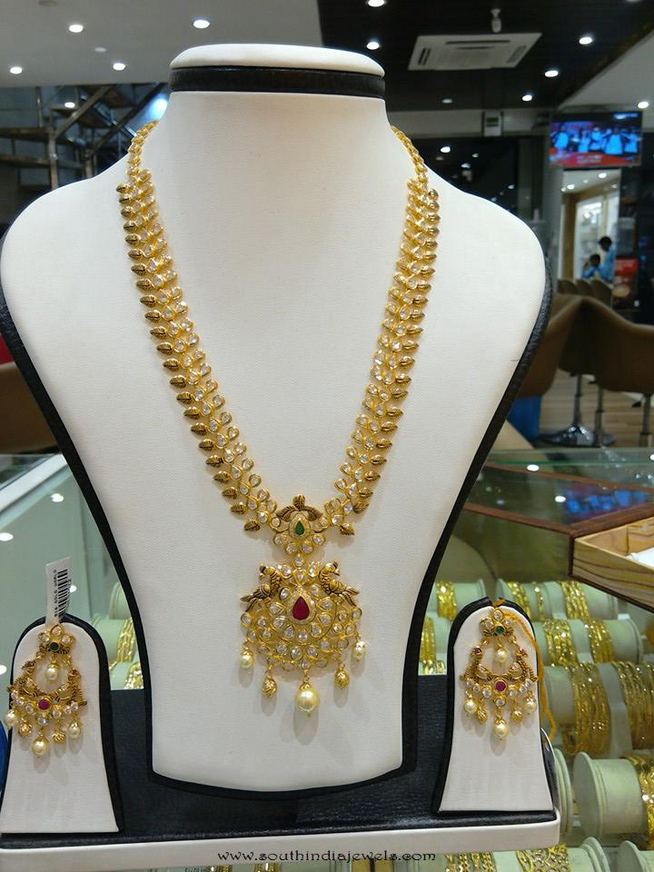 Gond Long Necklace Set from Navkar Gold World