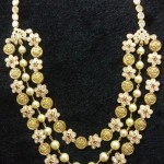 Gold Multilayer Floral Necklace from Vijay Jewellers