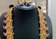 Gold Kundan Mango Mala from Anagha Jewellery