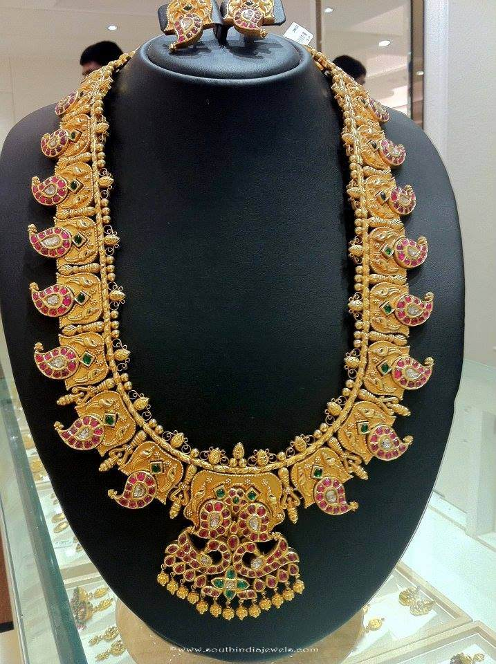 Gold Kundan Mango Mala From Anagha Jewellery South India