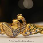 Gold Peacock Bangle from Sumathi Jewellers