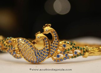 Gold Peacock Bangle from Sumathi Jewellers