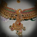 Gold Peacock Choker Necklace from Navkar Gold World