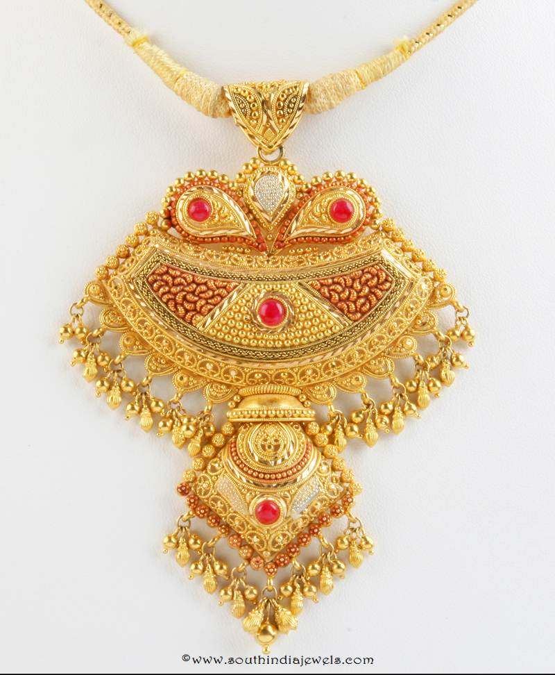 Gold Pendant Design from Senthil Murugan Jewellery