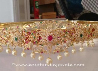 Gold Plated Bridal Vadanam From Dimple Collections