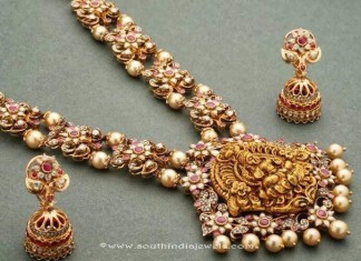 Gold Ruby Necklace from Anagha Jewellery