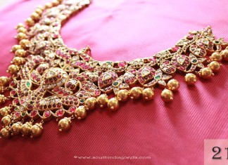 gold Ruby Necklace From Sayar Jewellery