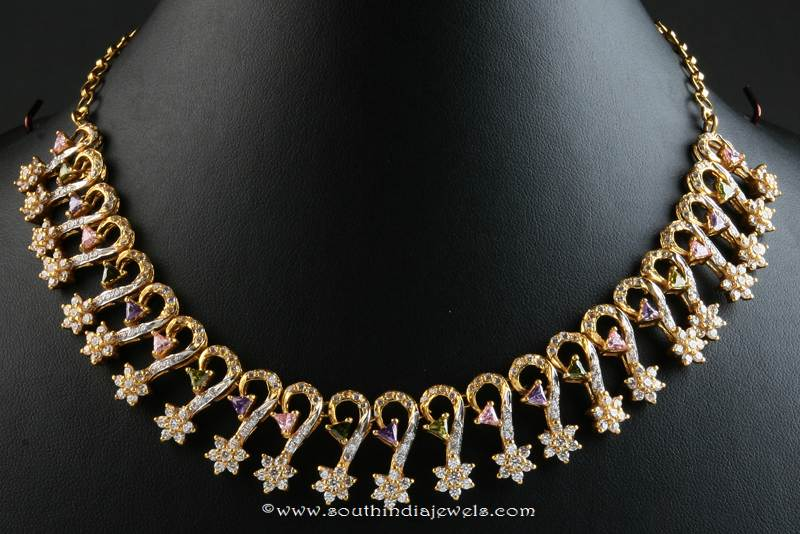 Gold Stone Choker From Senthil Murugan Jewellers