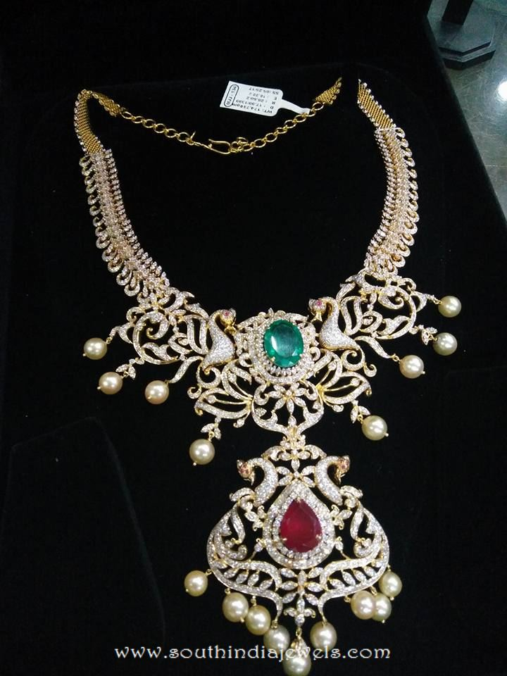 Heavy Diamond Necklace From Puchala Pearls