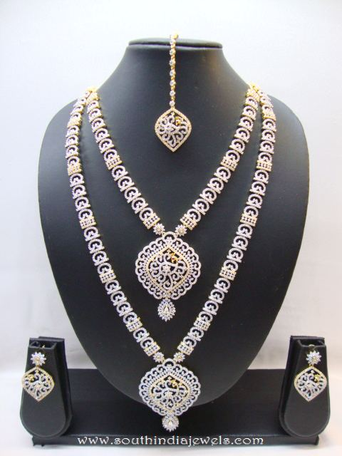 Imitation bridal Stone Necklace set From Chaahat Fashion Jewellery