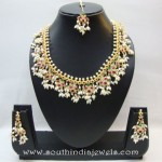 Gold Plated Guttapusalu necklace From Chaahat Fashion Jewellery