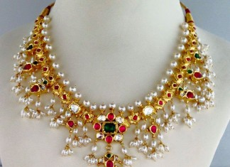 Latest Model Pearl Clustered Necklace