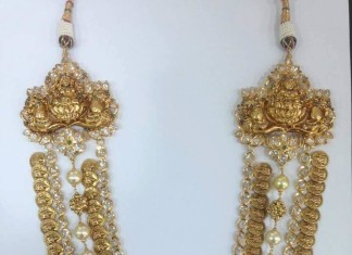 Multi layer gold coin necklace Design