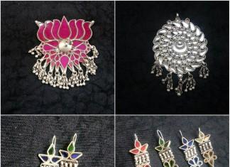 Glass work pendants and earrings