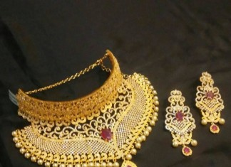 1 Gram Gold Choker Necklace from Brundavan Jewellery