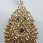 22K gold diamond pendant from Sri Balaji Jewelers