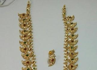 80 Grams Gold Mango Mala From Sri Balaji Jewellers