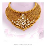Gold Kundan Necklace from AVR Swarnamahal Jewelry