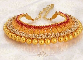 Gold Antique Ruby Choker Necklace from Jos Alukkas