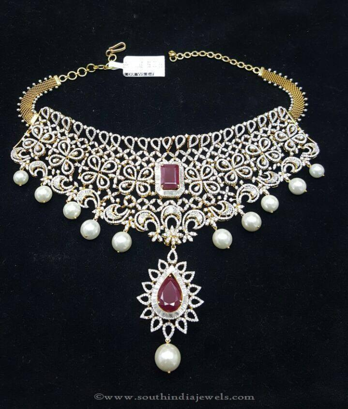 Gold Diamond Necklace Design From Sri Balaji Jewellers
