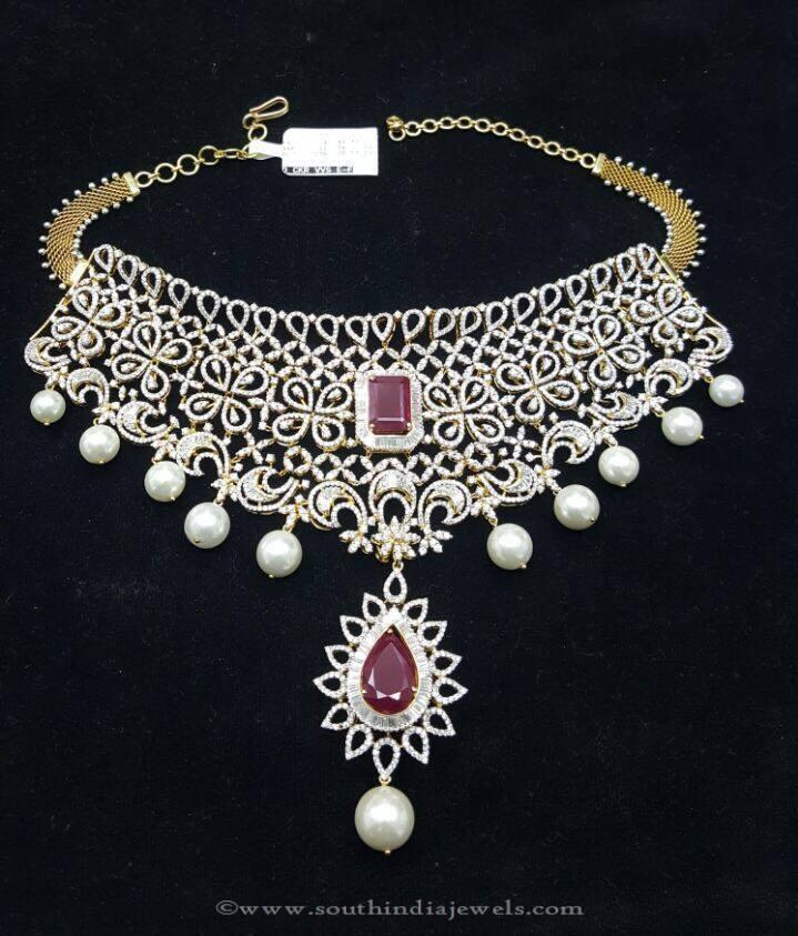 Gold Diamond Necklace Design From Sri Balaji Jewellers
