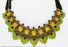 Gold Enamel Choker From Abharan Jewellers