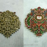 Gold Kundan Pendant Set from Sri Balaji Jewellers