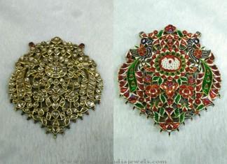 Gold Kundan Pendant Set from Sri Balaji Jewellers