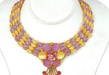 Latest Gold Necklace Set From Josalukkas