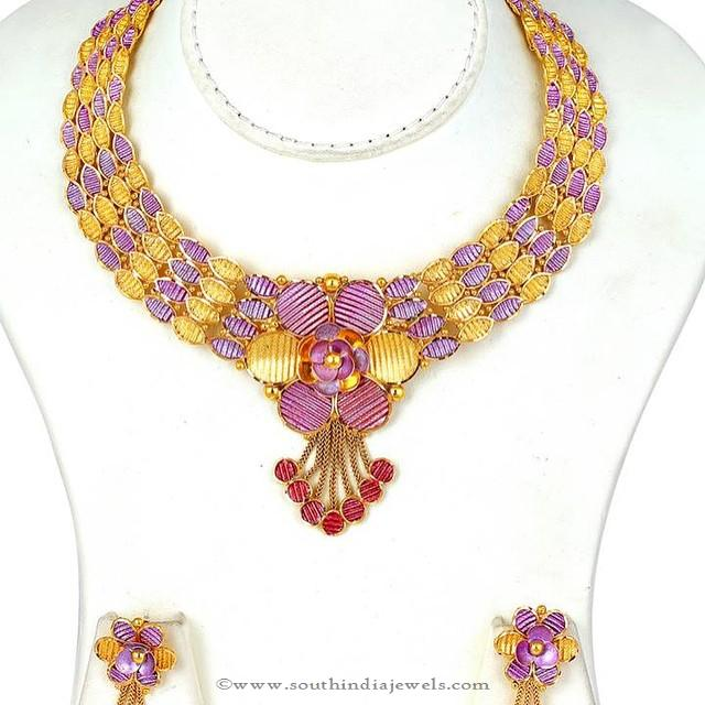 Latest Gold Necklace Set From Josalukkas