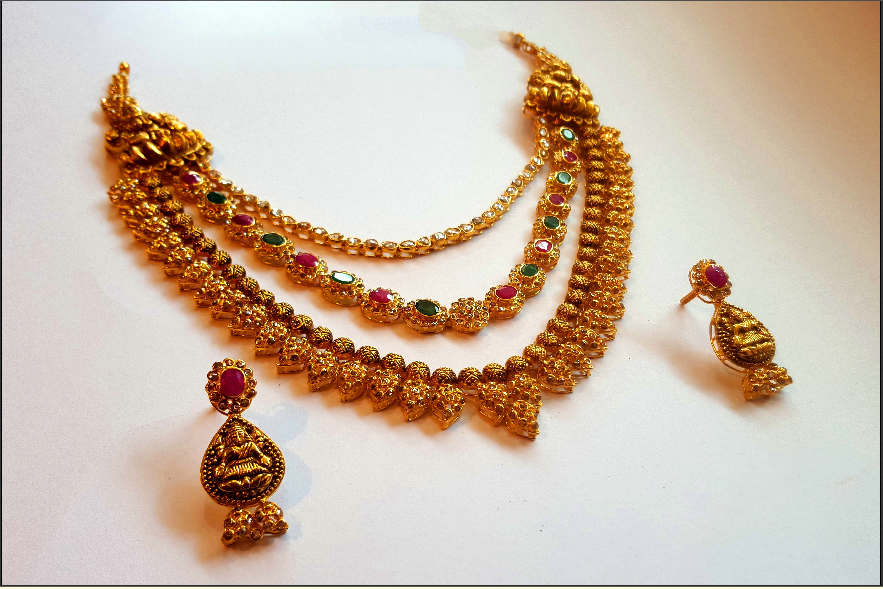 Gold Multilayer Haram Set from  Mahalaxmi Jewellers