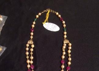 Gold Pearl Necklace Chain Design