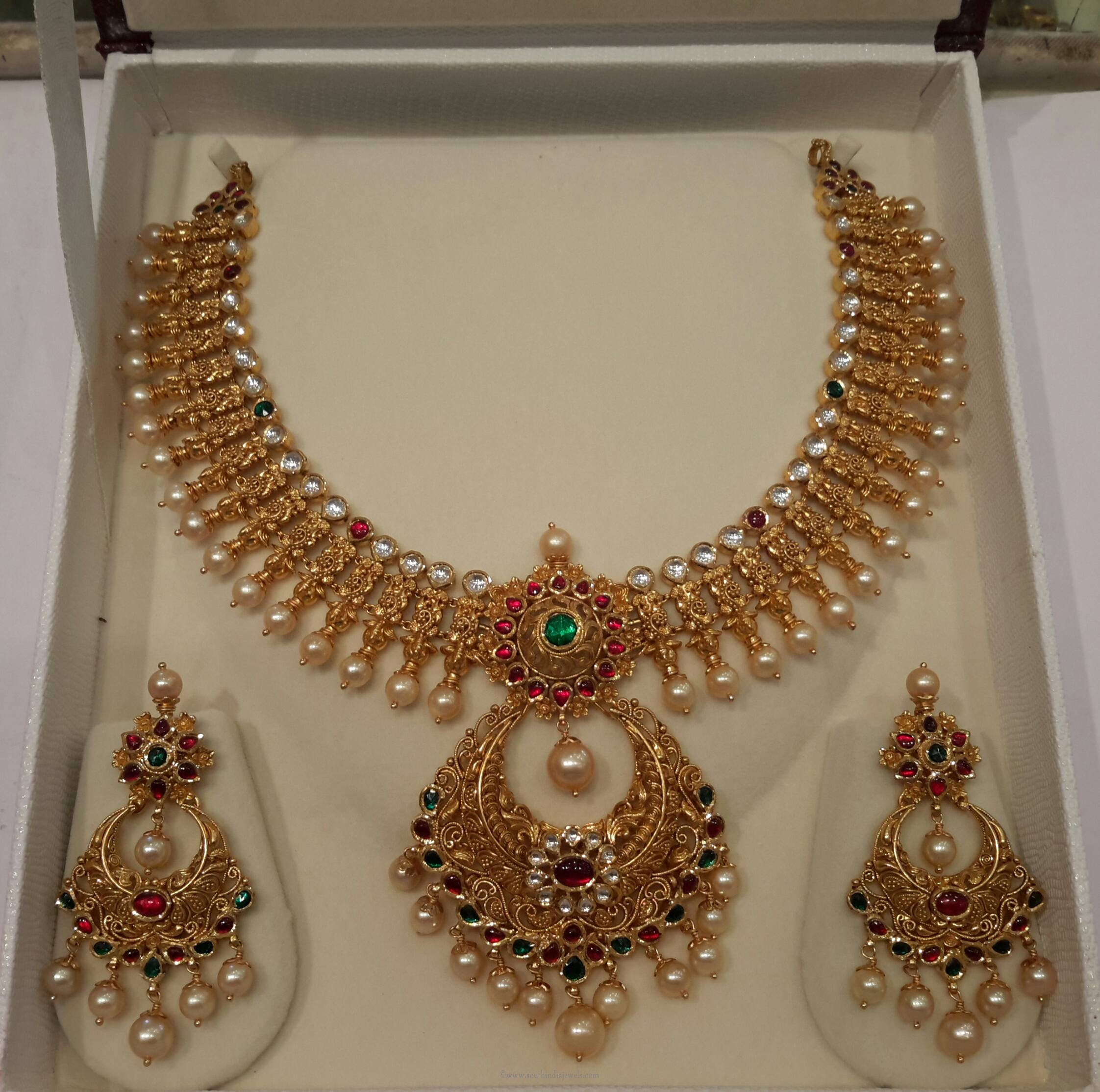 necklace haar cid fashion sets large jewellery product rani set long