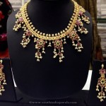 Gold Plated Guttapuslau necklace from Swarnakshi