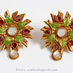 Gold Polki Earrings from PNG Adgil Jewellers
