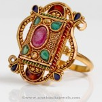 Gold Polki Statement Ring From PNG Adgil Jewellers