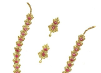 Gold Polki Ruby Haar From M.Bajranglal Jewellers