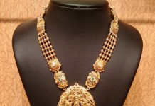 Gold Temple Haram with Uncut Diamonds