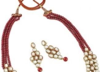 Imitation Kundan Necklace Set